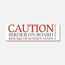 Caution Birder on Board Car Magnet 10 x 3