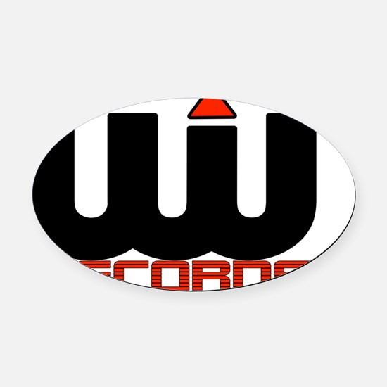 UWR Logo Background2 Oval Car Magnet