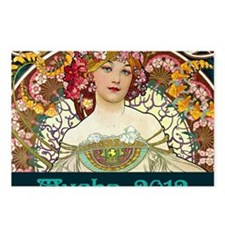 Mucha Cal Cover Postcards (Package of 8)