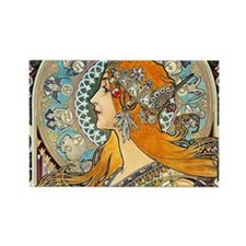 Mucha Cal 3 Rectangle Magnet