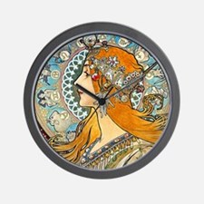 Mucha Cal 3 Wall Clock