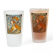 Mucha Cal 3 Drinking Glass