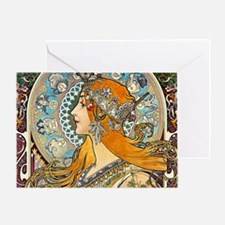 Mucha Cal 3 Greeting Card
