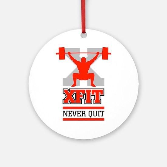 crossfit cross fit champion lifter light Ornament