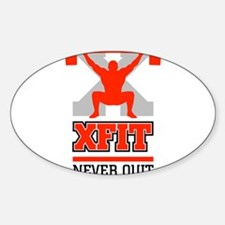 crossfit cross fit champion lifter light Decal