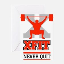 crossfit cross fit champion lifter light Greeting