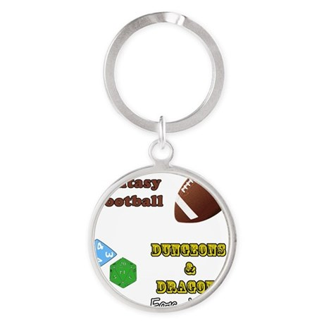 Fantasy Football Round Keychain