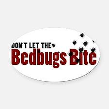 Bedbugs Oval Car Magnet