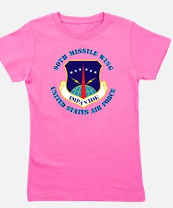 90th-Missile-Wing-Txt Girl's Tee