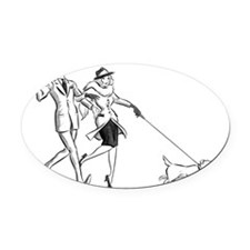 nickandnora Oval Car Magnet