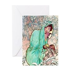 iPad S Mucha Winter Greeting Card