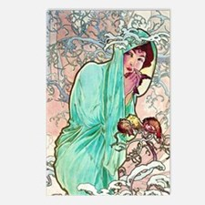 iPad S Mucha Winter Postcards (Package of 8)