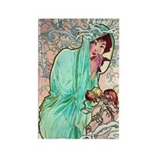 iPad S Mucha Winter Rectangle Magnet