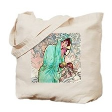 iPad S Mucha Winter Tote Bag