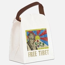 VintageFreeTibe6Bk Canvas Lunch Bag