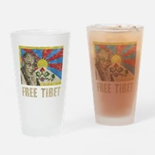 VintageFreeTibe6Bk Drinking Glass