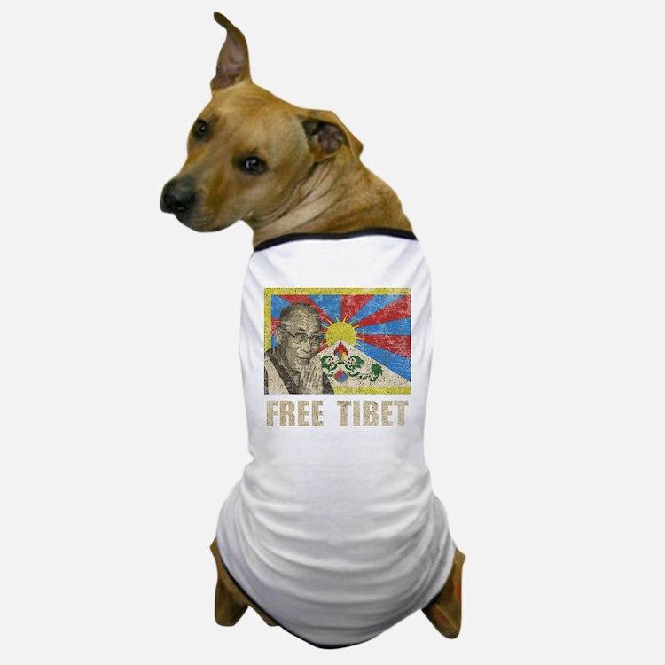 VintageFreeTibe6Bk Dog T-Shirt
