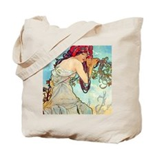 iPad S Mucha Spring Tote Bag