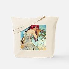 iPad S Mucha Spring Tote Bag