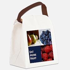 Eat More Fruit Canvas Lunch Bag