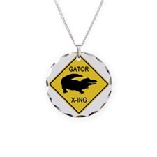 crossing-sign-alligator Necklace