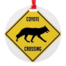 crossing-sign-coyote Ornament