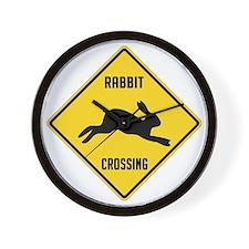 crossing-sign-rabbit Wall Clock