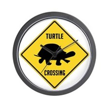 crossing-sign-turtle Wall Clock