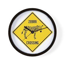 crossing-sign-zebra Wall Clock
