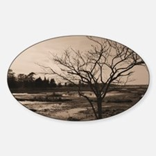 black and white Sticker (Oval)
