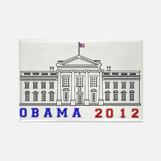 Obama White House 2012 Beveled Rectangle Magnet