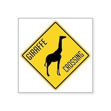 """crossing-sign-giraffe Square Sticker 3"""" x 3"""""""