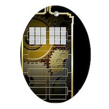 Steampunk TARDIS Oval Ornament