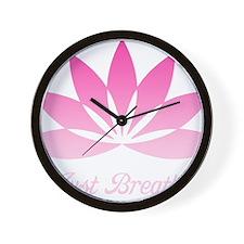 LotusJustBreathe1Bk Wall Clock