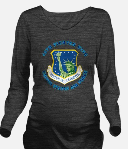 48th-Fighter-Wing-wi Long Sleeve Maternity T-Shirt
