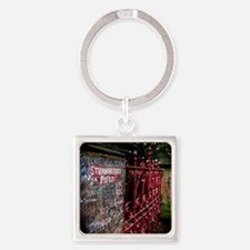Strawberry Field Square Keychain