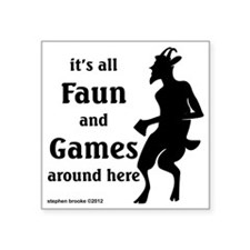 "faun Square Sticker 3"" x 3"""