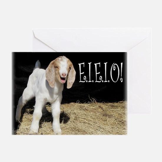 Baby Goat e.i.e.i.o! Greeting Card