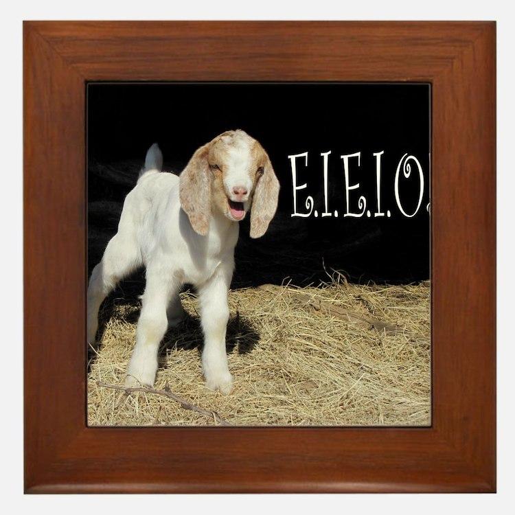 Baby Goat e.i.e.i.o! Framed Tile