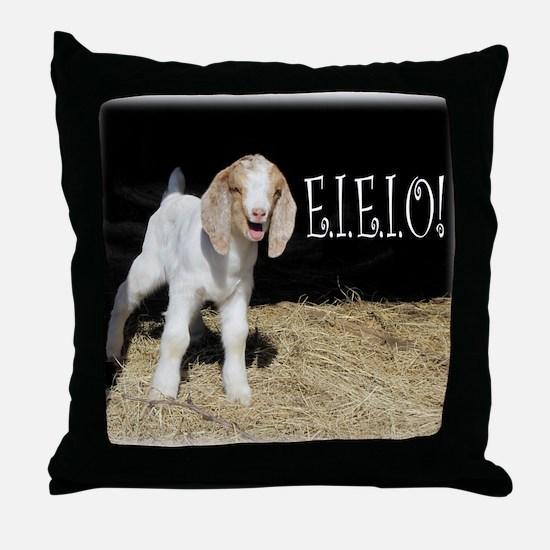 Baby Goat e.i.e.i.o! Throw Pillow