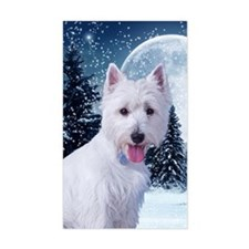 WestieWinterCard Decal