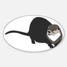 riverotter Sticker (Oval)