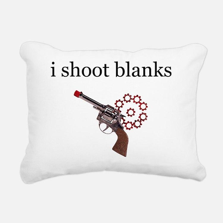 i shoot blanks-1 Rectangular Canvas Pillow