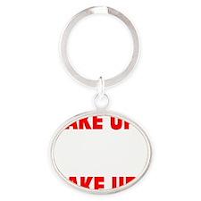 1_911WASANINSIDEJOB_BIG Oval Keychain
