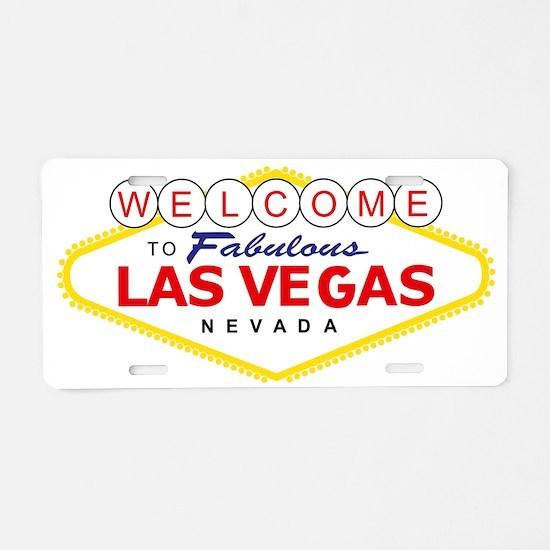 vegasSignC Aluminum License Plate