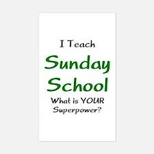 teach sunday school Decal