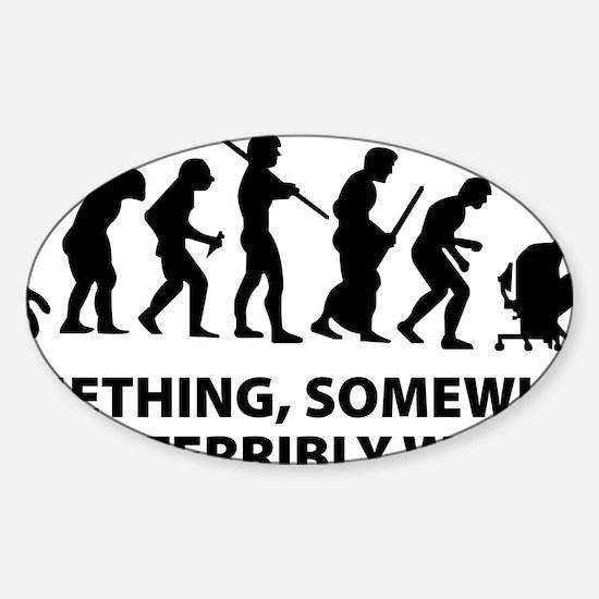somwhereWrong1A Sticker (Oval)