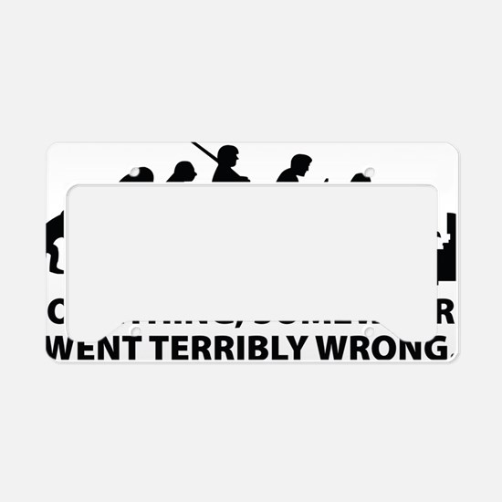 somwhereWrong1A License Plate Holder