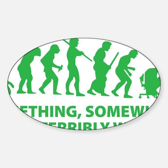 somwhereWrong1D Sticker (Oval)