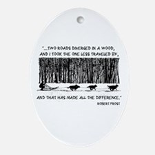 The Road Less Traveled Sled D Oval Ornament